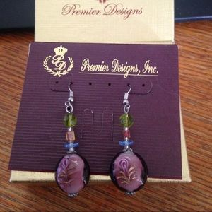 Premier Designs rose dangle earrings